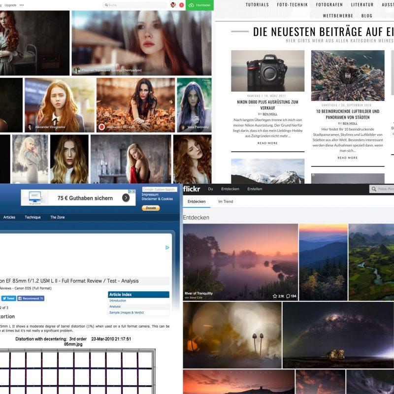 Webseitenlinks zum Thema Fotografie